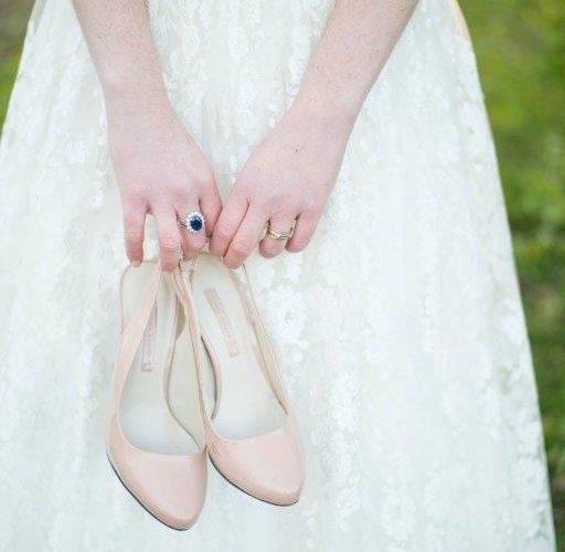 nude schoenen pumps bruid jullie feestje